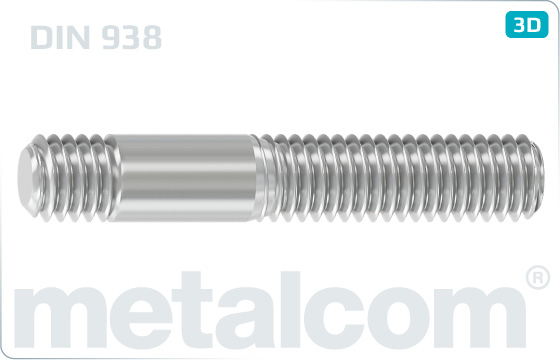 Śruby dwustronne do stali - DIN 938