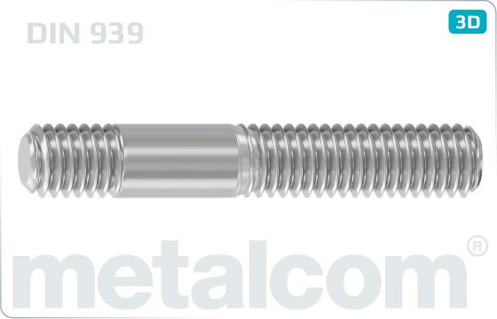 Stiftschrauben Einschraubende = 1,25d - DIN 939