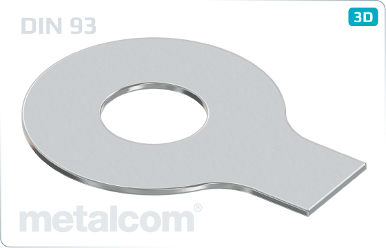Plain washers with a long tab - DIN 93