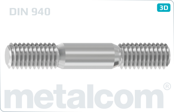 Studs metal end = 2,5d - DIN 940