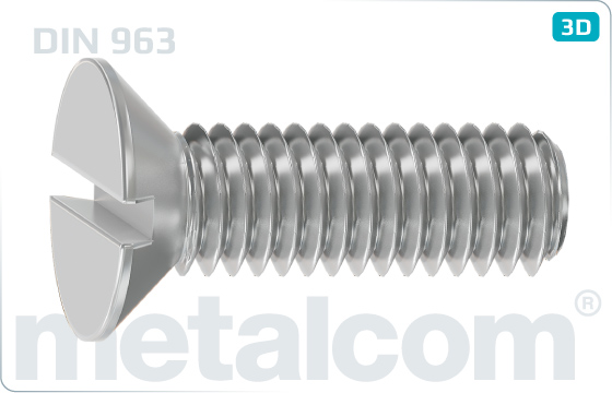 Slotted screws countersunk head - DIN 963