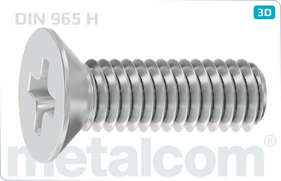 Kreuzschlitzschrauben mit Senkkopf - DIN 965 H