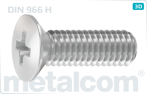 Cross recessed screws raised countersunk head - DIN 966 H