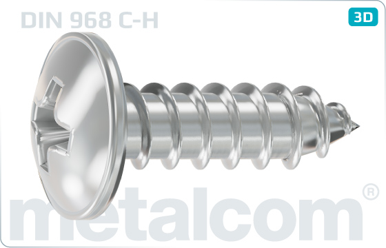 Tapping screws pan head with collar - DIN 968