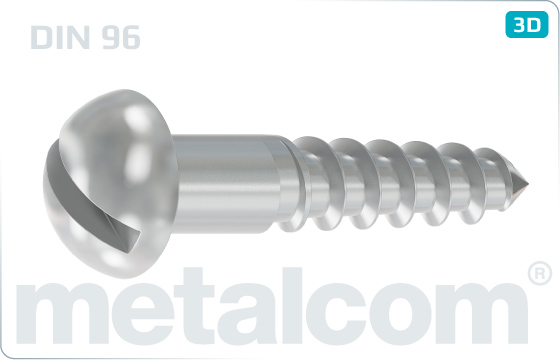 Wood screws slotted round head - DIN 96