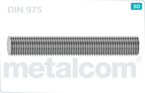 Závitové tyče délky 1000, 2000 a 3000 mm - DIN 975