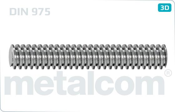 Závitové tyče délky 1000 mm s trapézovým závitem - DIN 975