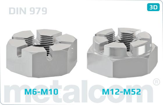 Matice korunové nízké - DIN 979