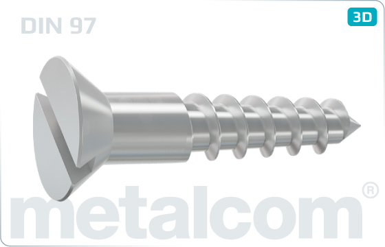Wood screws slotted countersunk head - DIN 97