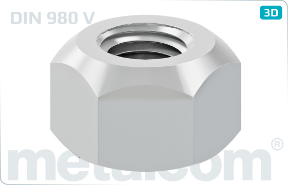 Hexagon nuts prevailing torque type, all-metal - DIN 980 V