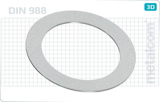 Podkładki płaskie dystansowe - DIN 988