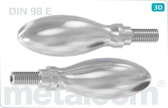 Šrouby pro ruční utahovaní vejčité otočné - DIN 98 E