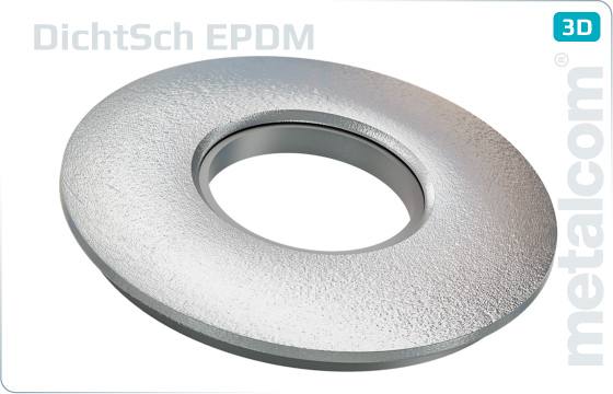 Sealing washers with EPDM sealing for hexagon screws