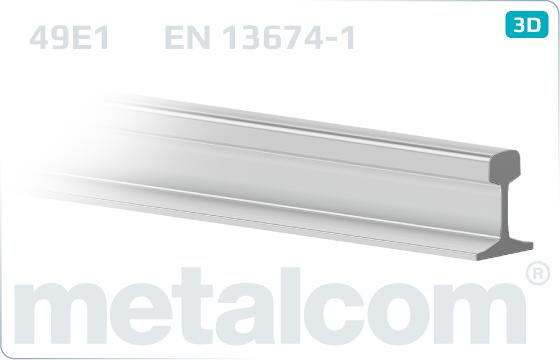 Kolejnice profil 49E1 - EN 13674-1