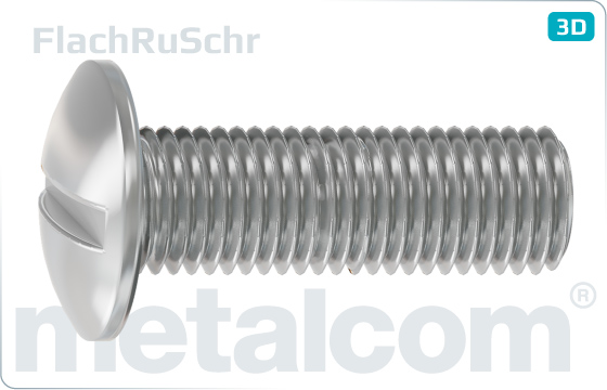 Slotted screws mushroom head - FlachRuSchr