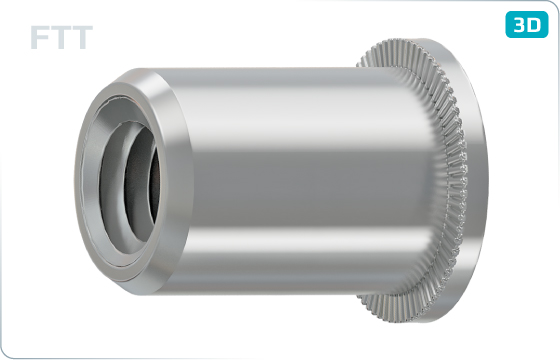 Threaded inserts cylindrical head