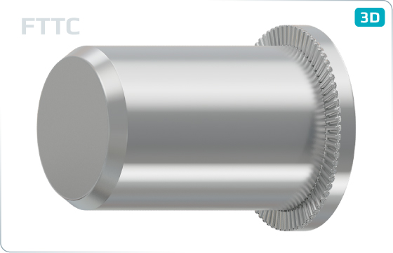 Threaded inserts cylindrical head, closed end