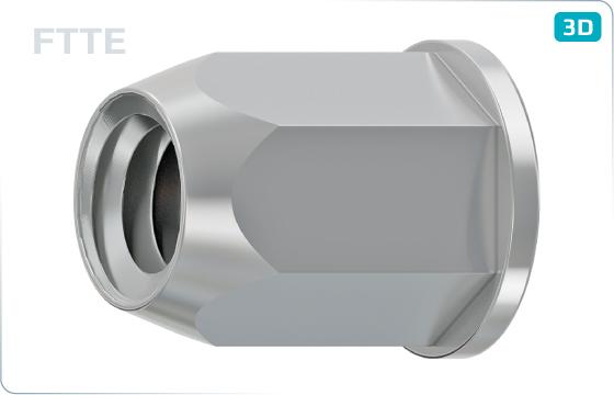 Threaded inserts cylindrical head and hexagonal shank