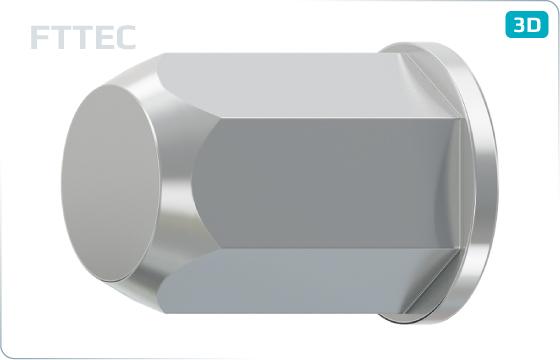 Nýty maticové s plochou hlavou šestihranné, uzavřené - FTTEC