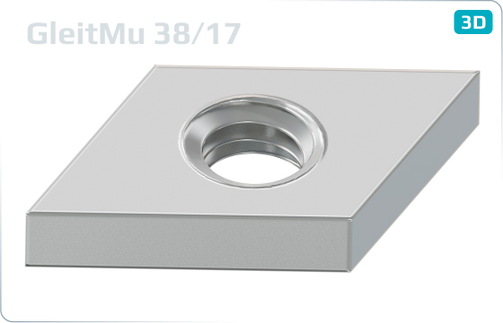 Square nuts T-nuts for channels type 38/17 - 38/17