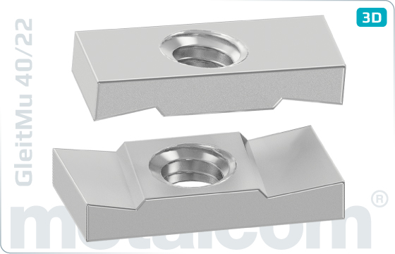Square nuts T-nuts for channels type 40/22 - 40/22
