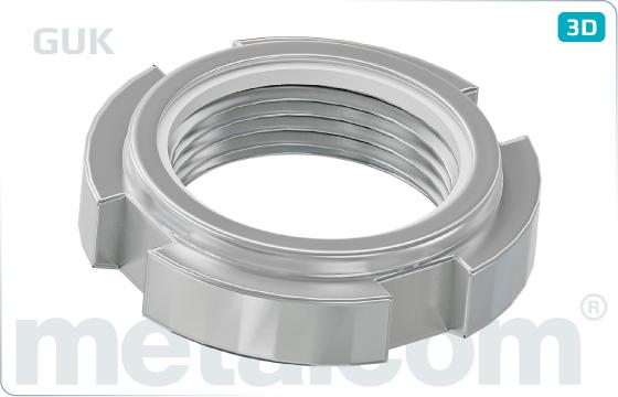 Slotted nuts self locking with nylon insert (GUK) - GUK