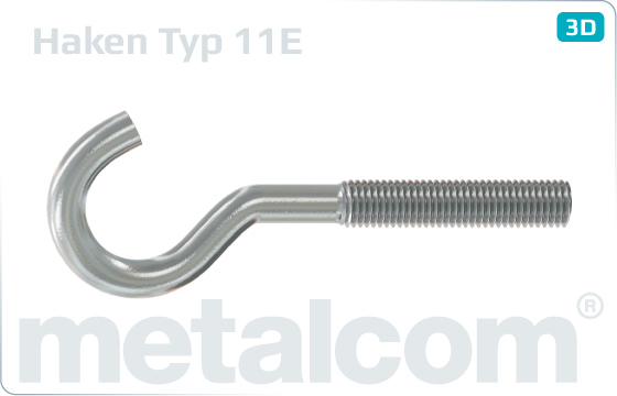 Hooks with metric thread type 11E