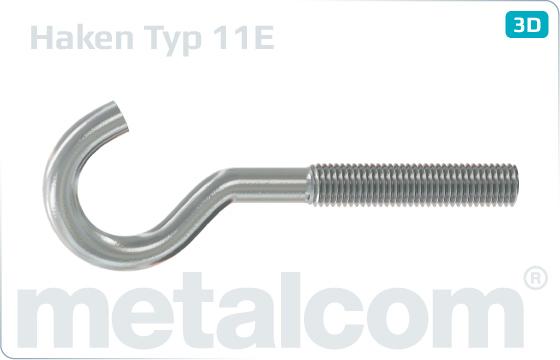 Háky s metrickým závitem typ 11E - Typ11E