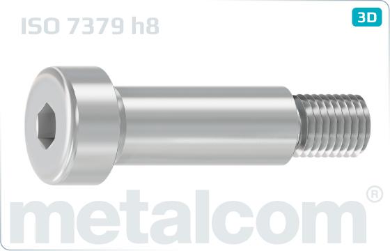 Šrouby s vnitřním šestihranem lícované s válcovou hlavou (dřík h8) - ISO 7379 h8