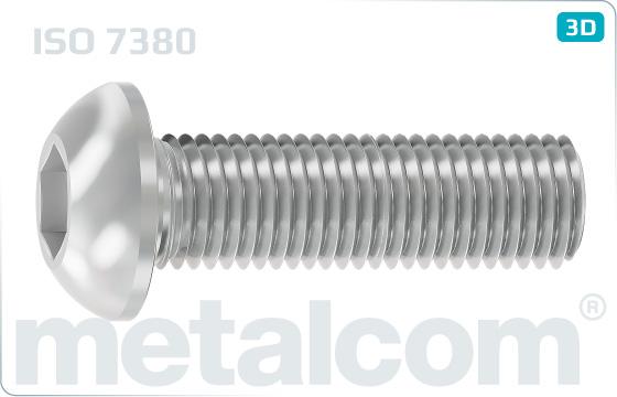 Skrutky s vnútorným šesťhranom a poľgulatou hlavou - ISO 7380