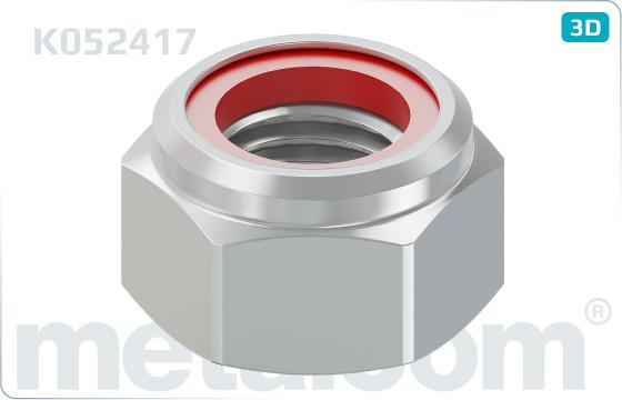 Nuts hexagon, prevailing torque type