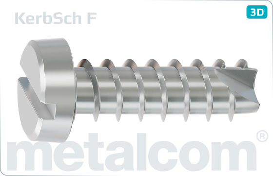 Screws for plastics slotted pan head