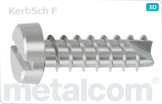 Schrauben für Kuntstoff Kerbschrauben mit Zylinderkopf und Schlitz - F