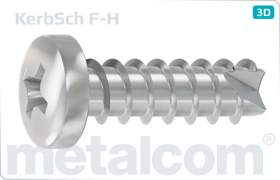 Screws for plastics cross H recessed pan head - F-H