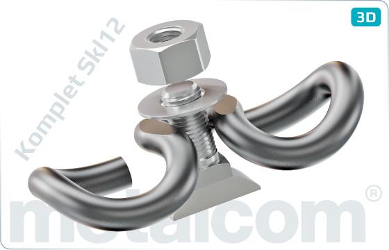 Sets Clamp Skl12, bolt RS0 K092234, nut M22 K072201D, washer 23 Uls6