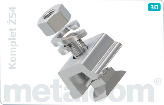 Komplety Zvierka strihaná ŽS4 DK-4-309-93, skrutka RS1 K102457, matica M24 K052487D, podložka 25 UIC864-3V - KompletŽS4