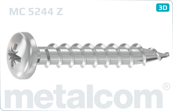 Chipboard screws cross recessed pan head