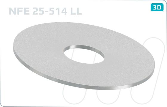 Podložky ploché AFNOR typ LL - LL