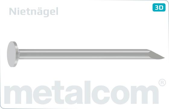 Gwoździe maszynowe zkońcówką ukośną - Nietnägel