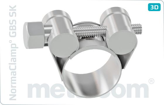 Objímky hadicové s kloubovým svorníkem DIN 3017 - SK