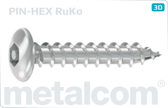 Security screws tapping hexagon socket button head screws - RuKo