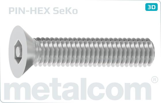 Sicherheitsschrauben mit Senkkopf und Innensechskant - SeKo