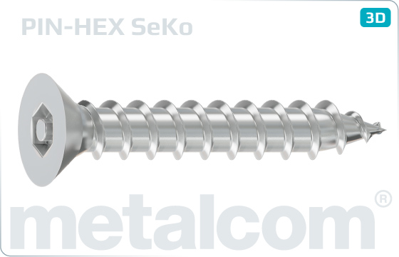Security screws tapping hexagon socket countersunk head screws