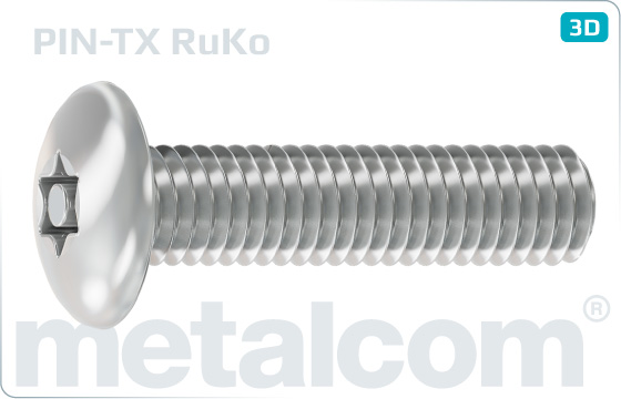 Security screws hexalobular internal drive (TORX) button head