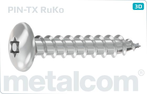 Sicherheitsschrauben Blechschrauben mit Flachrundkopf und Innensechsrund (TORX) - RuKo