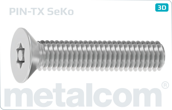 Bezpečnostné skrutky so zápustnou hlavou a drážkou TORX - SeKo