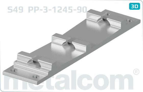 Podkladnice přejezdové dvojité S49 - PP-3-1245-90