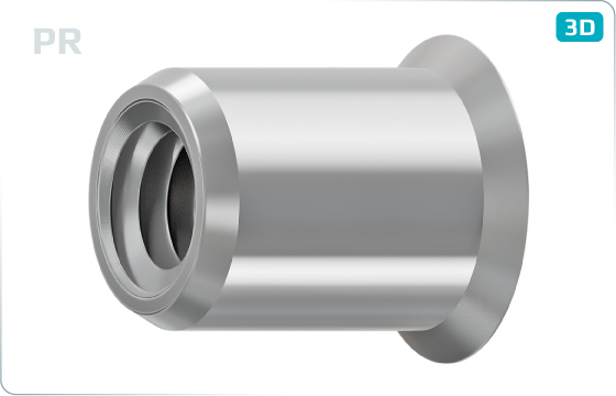 Threaded inserts reduced head