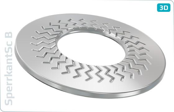 Siecherungsscheiben TECKENTRUP-Sperrkantscheiben, breit (Form B) - B
