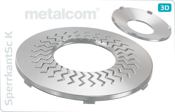 Pojistné kroužky kontaktní TECKENTRUP ozubené (tvar K) - K